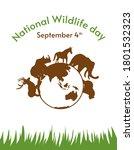 national wildlife day... | Shutterstock .eps vector #1801532323