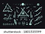 happy  halloween vector hand... | Shutterstock .eps vector #1801535599
