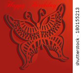 happy birthday card. trendy... | Shutterstock .eps vector #180155213