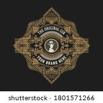 vintage gin label. vector... | Shutterstock .eps vector #1801571266