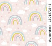 rainbow  hand drawn backdrop....   Shutterstock .eps vector #1801572943