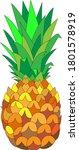 ripe pineapple fruit isolated... | Shutterstock .eps vector #1801578919