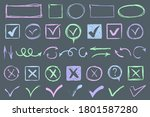 hand drawn strokes and pen...   Shutterstock .eps vector #1801587280