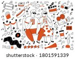Cinema Doodle Set. Collection...
