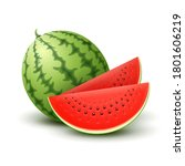 vector 3d realistic ripe... | Shutterstock .eps vector #1801606219