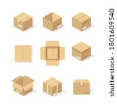 cardboard boxes or packaging...   Shutterstock .eps vector #1801609540