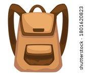 basic rucksack for traveling or ... | Shutterstock .eps vector #1801620823