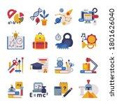 school subjects supplies set ...   Shutterstock .eps vector #1801626040