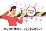 troubled worried freelancer... | Shutterstock .eps vector #1801635829