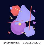 vector abstract composition of... | Shutterstock .eps vector #1801639270