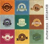 set of vintage retro coffee... | Shutterstock .eps vector #180164438