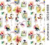 watercolor pattern | Shutterstock . vector #180164888