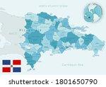 blue green detailed map of... | Shutterstock .eps vector #1801650790