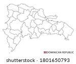 dominican republic map  black... | Shutterstock .eps vector #1801650793