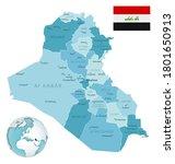 iraq administrative blue green... | Shutterstock .eps vector #1801650913