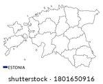 estonia map  black and white... | Shutterstock .eps vector #1801650916