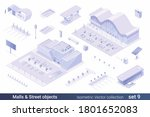 isometric flat 3d architecture... | Shutterstock .eps vector #1801652083