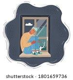 cartoon vector illustration of... | Shutterstock .eps vector #1801659736