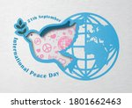 dove peace with pink sign icon...   Shutterstock .eps vector #1801662463