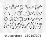 hand drawn sketch arrow... | Shutterstock .eps vector #180167378