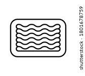 minced meat in tray. linear...   Shutterstock .eps vector #1801678759