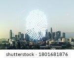double exposure of virtual... | Shutterstock . vector #1801681876