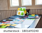 desk of ux design  ui in the...