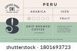 minimal label. typographic... | Shutterstock . vector #1801693723