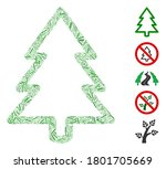 hatch mosaic based on fir tree... | Shutterstock .eps vector #1801705669