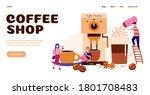 website or landing page... | Shutterstock .eps vector #1801708483