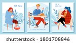 a set of posters or banners...   Shutterstock .eps vector #1801708846