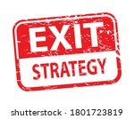exit strategy  red rubber stamp ...   Shutterstock .eps vector #1801723819