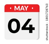 04 may flat style calendar icon ... | Shutterstock .eps vector #1801728763