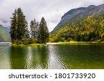 Alpine Lake Di Predil In The...