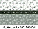 vintage floral vector pattern... | Shutterstock .eps vector #1801741090