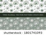 vintage floral vector pattern... | Shutterstock .eps vector #1801741093