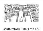building view with landmark of... | Shutterstock .eps vector #1801745473