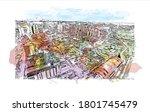 building view with landmark of... | Shutterstock .eps vector #1801745479