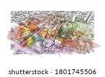building view with landmark of... | Shutterstock .eps vector #1801745506