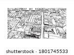 building view with landmark of... | Shutterstock .eps vector #1801745533
