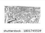 building view with landmark of... | Shutterstock .eps vector #1801745539