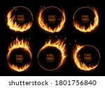 fire rings  burning vector... | Shutterstock .eps vector #1801756840
