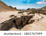 Small photo of Faults of the earth crust, consequence of the earthquake