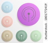 antenna wifi badge color set....