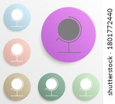 globe badge color set. simple...
