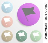 flag isolated flat badge color...