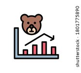 bear market  chart icon. simple ...