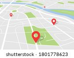 city map with location. vector...   Shutterstock .eps vector #1801778623