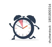 the clock is running alarm with ... | Shutterstock .eps vector #1801800316