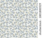 vector floral seamless pattern. ...   Shutterstock .eps vector #1801800529